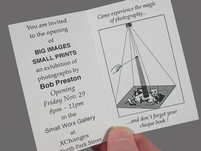 Big Images Small Prints invite inside